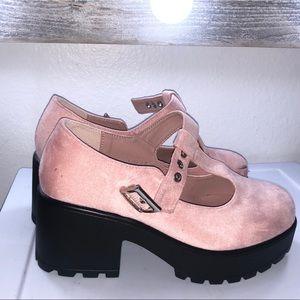 Dolls Kill Pink Platform Mary Jane Shoes